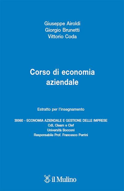 Cover Corso di economia aziendale (estratto)